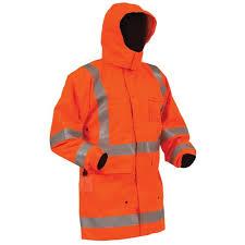 <b>Bison</b> Rigour Anti-Static Jacket Orange - Hi Vis Wet Wea