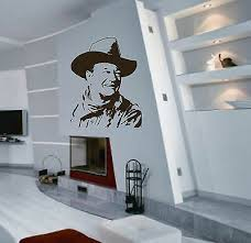 Muurversieringen, <b>stickers</b> Huis John Wayne <b>Silhouette</b> Wall Art ...