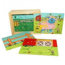 <b>Деревянная игрушка QiQu Wooden</b> Toy Factory Шнуровка Ферма ...