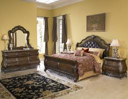 sleigh bedroom set black sets king size