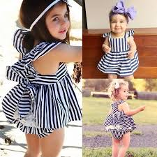 Baby Girls Clothes <b>Summer</b> Sunsuit <b>Infant</b> Outfit Stripe Backless ...