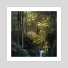 <b>Afternoon Forest</b>, an art print by Allison Chin - INPRNT