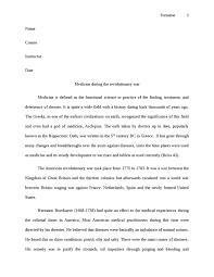 medicine during the revolutionary war literature essay   studentshare medicine during the revolutionary war essay example