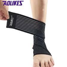 2Pcs Adjustable Elastic Ankle Sleeve Foot Injury Sprain Retainer ...