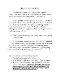 problem solution essay prompts essay topics cover letter example of problem and solution essay
