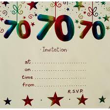 70th birthday invitations templates