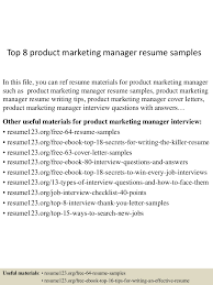 top8productmarketingmanagerresumesamples 150426005922 conversion gate02 thumbnail 4 jpg cb 1430010020