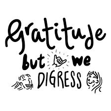 Gratitude, but we digress