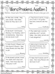 Word problems, Subtraction worksheets and Worksheets on PinterestWord Problems: Addition Freebie