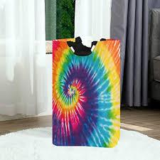 Pfrewn Swirl Rainbow Tie Dye Large Laundry Basket ... - Amazon.com