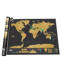 Home Union Travel Edition Scratch Off <b>World Map Poster Black</b> ...