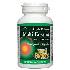 Natural Factors Full Spectrum <b>High Potency Multi Enzyme</b> ...
