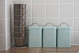 Green Kitchen Canister Set Blue Kitchen Canisters Amazing Design Agemslifecom