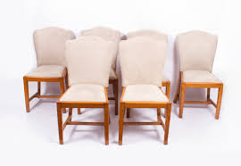 antique set 6 walnut art deco dining chairs epstein c1930 art deco dining 6