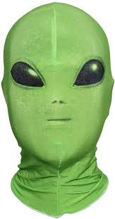 Green Alien Face <b>Hood Halloween Cosplay</b> Pretend Game <b>Funny</b> ...