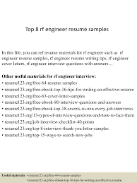 top8rfengineerresumesamples 150407031527 conversion gate01 thumbnail 4 jpg cb 1428394570