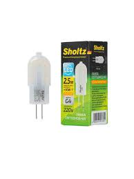 <b>Лампа светодиодная капсульная Sholtz</b> 2,5Вт G4 2700К 220В ...