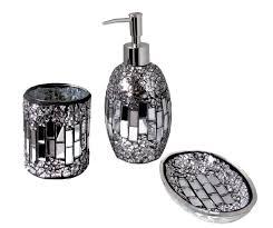 mosaic bathroom accessories glass tile