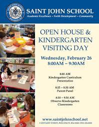 kindergarten ing day open house flyer st john the kindergarten ing day open house flyer