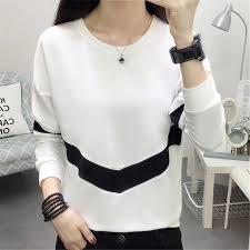 <b>2019</b> Female T Shirts Basic Tops <b>Autumn</b> Winter Tee Women <b>Solid</b> ...
