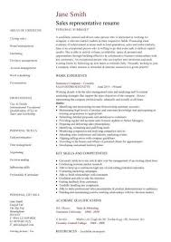 Resume Examples  Sales Representative Resume Templates  resume     Rufoot Resumes  Esay  and Templates Resume Examples  Sales Representative Resume Sample With Personal Summary And Work Experience As Sales Representative