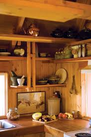 kitchen built shelves the kitchen of a home in the okanagan mountains open shelving is built
