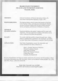 jobs clinical coordinator of isu dietetic internship boise id see job description qualifications 7 01