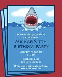 shark invitation printable printable or printed 🔎zoom