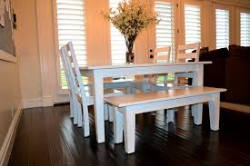 Distressed White Kitchen Table Fresh Idea To Design Your Painted Kitchen Table Using Chalk Paint