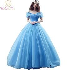 <b>100</b>% <b>Real Images In</b> Stock Blue Butterfly Cospaly Cinderella Dress ...