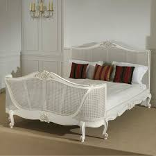 country bedroom french decoration rattan chair white