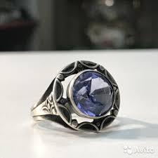 Винтажное <b>Кольцо</b> с голубым топазом в серебре 875 п | Festima ...