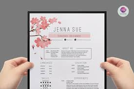 floral resume template resume templates on com