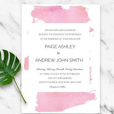 light pink watercolor splash modern invitation diy light pink watercolor splash modern invitation diy wedding suite editable pdf template