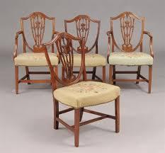 hepplewhite shield dining chairs set: furniture  furniture