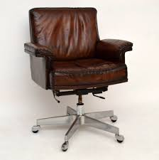 leather vintage desk chair antique leather office chair