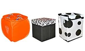Avioni Quality <b>Storage</b> Combo <b>3</b> in 1-1 <b>Stool</b>, 1 Box and 1 Laundry Bag