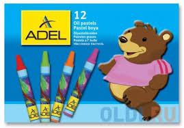 Мелки пастельные <b>Adel ADELAND</b> круглые 12 штук <b>12 цветов</b> от ...