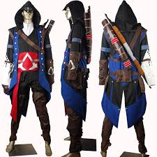 ins creed black costume in 39 s creed 3 suit conner costume