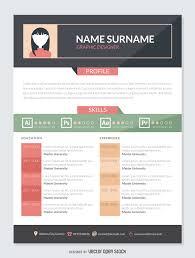 graphic designer resume cv vector graphic designer resume mockup template