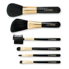 <b>Набор из 6 кистей</b> для макияжа в футляре BRUSH SET - LAMBRE ...