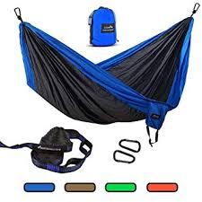 Geezo Double <b>Camping Hammock</b>, <b>Lightweight Portable</b> Parachute