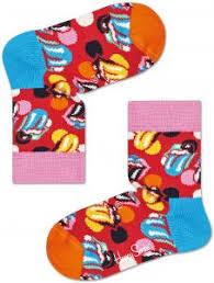 Happy Socks Unisex <b>Rolling Stones Big</b> Licks Socks, Multicolour, 2-3Y