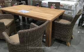 Teak Dining Room Sets Outdoor Teak And Concrete Console Fncn 0126 Tkbuf 1 Outdoor Teak