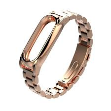 Gold <b>Bracelet for Xiaomi Mi</b> Band 2 Stainless Steel Bracelets ...