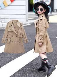 2019 <b>Baby</b> Girl Trench <b>Coat</b> School Coatume Spring <b>Windbreaker</b> ...