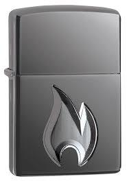 <b>Зажигалка Armor</b>™ High Polish Black Ice® <b>Flame Design</b> ZIPPO ...