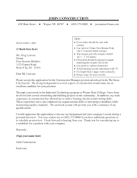 construction cover letter cover letter database construction cover letter