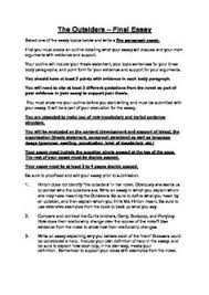 the outsiders  rubrics and assessment on pinterestthe outsiders   summative assessment   literary essay task   complete   task sheet  rubric