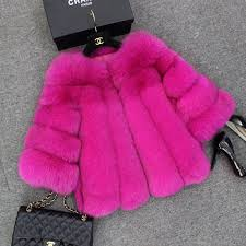 Pink fur coat, Pink fur jacket, Fur coat